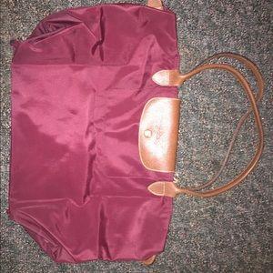 Original Longchamp Le Pilage Bag in Maroon Color